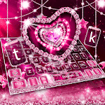 Sparkling Pink Diamond Heart Keyboard icon