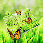 Green Nature Butterflies  Keyboard icon