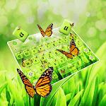 Green Nature Butterflies  Keyboard icon