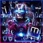 Neon Iron Hero Robot Keyboard Theme icon