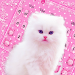 Cute Pink Kitty Keyboard Theme icon