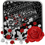 Elegant Black Rose Gravity Keyboard Theme🌹 icon