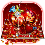 Valentines Red Love Heart Gravity Keyboard for pc logo