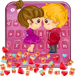 Lovely Couple Gravity Keyboard Theme👩❤️💋👨 icon