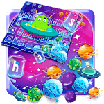 Galaxy Alien Cartoon Keyboard Theme icon