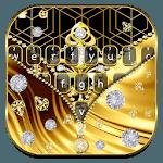 Golden Zipper Gravity Keyboard Theme icon