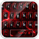 Stylish Black Red Light Keyboard icon