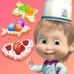Masha and the Bear Child Games: Cooking Cookie icon
