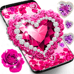 Diamond rose glitter live wallpaper icon
