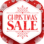 Сhristmas sales and new year gifts discount icon