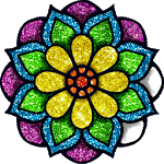 Mandala Glitter Color Puzzle - Paint by Numbers icon