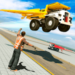 Flying Dump Construction Truck Driving icon