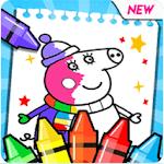 coloring book pepa icon