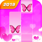 Butterfly Pink Piano Tiles - Magic Girl Kpop Music icon