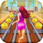 Pink Princess Run - Subway Escape Girl Run Temple icon