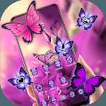 Beautiful Purple Butterfly Flower Theme 2019 icon