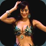 Beautiful girl dancing icon