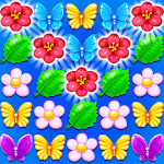 Butterfly Flower Free Match icon
