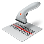 Barcode reader / scanner to txt file icon