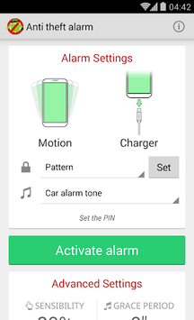 Anti Theft Alarm pc screenshot 1