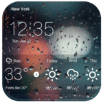 Locker with real-time weather icon