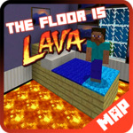 Floor is Lava map for MCPE Minecraft icon