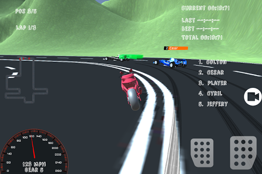Motorcycle Formula Racing 3D pc screenshot 1