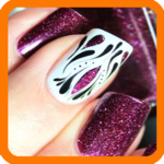 Nail design and decoration icon