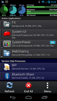 SystemPanelLite Task Manager pc screenshot 1