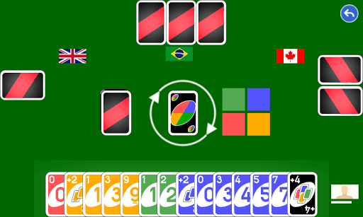 Color number card game: uno pc screenshot 1