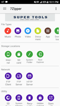 7Zipper - File Explorer pc screenshot 1
