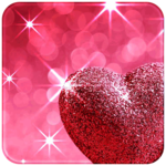 Pink Love Diamond Heart icon