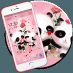 Pink Panda Love icon