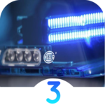LED Police Lights 3 with emergency sirens icon