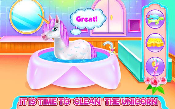 Cute Unicorn Caring and Dressup pc screenshot 1
