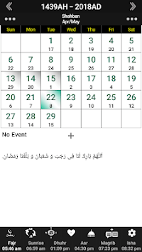 Islamic Calendar /Prayer Times /Ramadan /Qibla pc screenshot 1