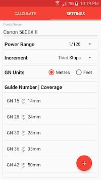 Manual Flash Calculator (Free) pc screenshot 2