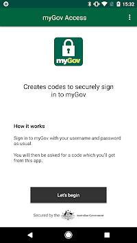 myGov Access - code creator pc screenshot 2