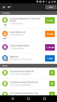 Public Transport Victoria app pc screenshot 1