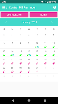 Birth Control Pill Reminder & Tracker pc screenshot 1