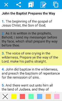 Holy Bible in English for Android pc screenshot 1
