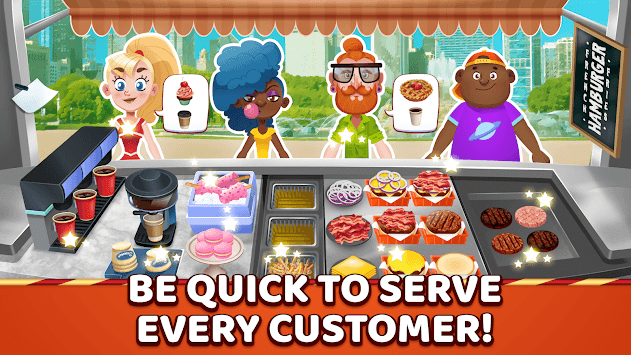 Burger Truck Chicago - Fast Food Cooking Game pc screenshot 1
