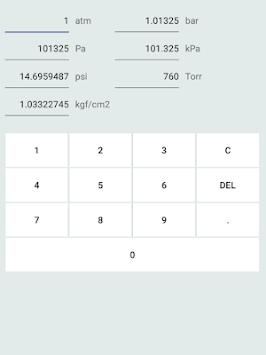 Pressure unit converter pc screenshot 1