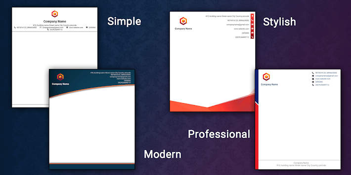 Letterhead Maker Logo Business letter pad template pc screenshot 2
