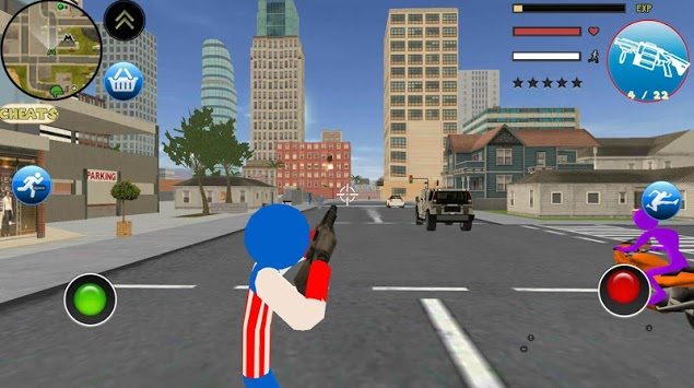 Stickman US Capitaine Rope Hero Gangster Crime pc screenshot 1