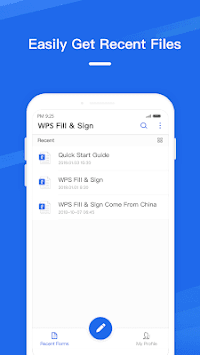 WPS Fill & Sign pc screenshot 1