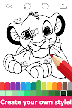 Draw colouring pages for The King Lion by Fans pc screenshot 1