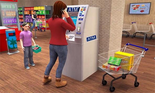 Super Market Atm Machine Simulator: Shopping Mall pc screenshot 1