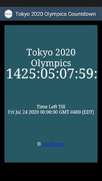 2020 Summer Olympics Countdown pc screenshot 1