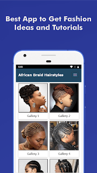 500+ Top African Braids Hairstyles Fashion Offline pc screenshot 1
